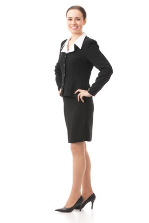 Full body portrait of businesswoman, isolated on white Stock Photo - 4583056