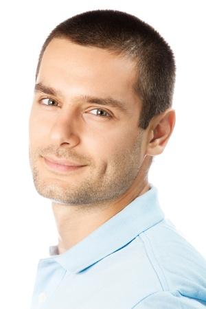 Retrato de feliz hombre sonriente, aislado en fondo blanco Foto de archivo - 8579722