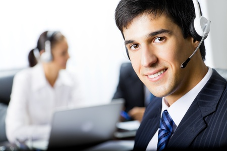 Two support phone operators at workplace Stock Photo - 8773400