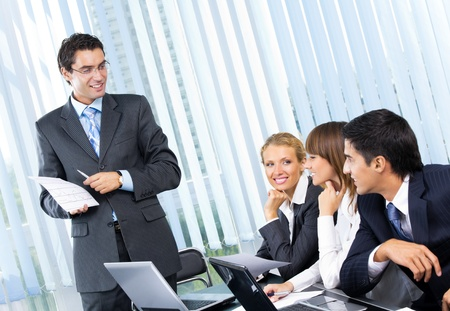 corporate team: Businesspeople at business meeting, seminar or conference   Stock Photo