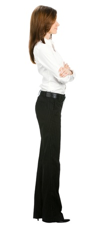 Full body of young business woman, isolated on white background Stock Photo - 17792154
