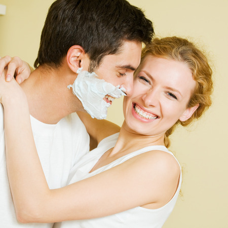 Cheerfull couple having a fun together photo
