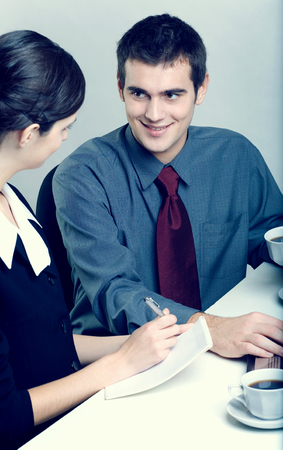 subordinated: Businesspeople at office Stock Photo