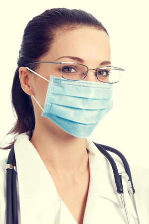 protective mask: Portrait of doctor in protective mask