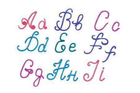 plasticine alphabet letters  for education Stock Photo - 3237786