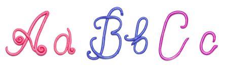 plasticine alphabet for education photo