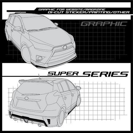 eco car: eco car for graphic