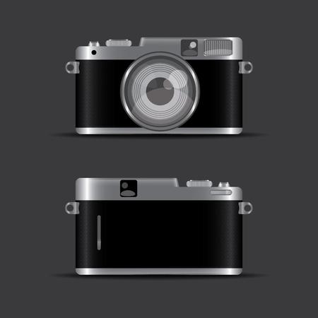 camera vintage color black silver