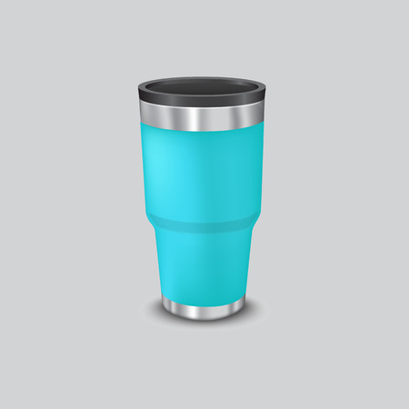 Metal water cup for cooler and heat temperature Ilustrace