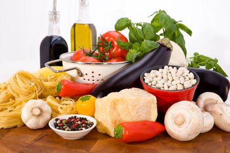 pleasing display, all natural ingredients, for cooking spaghetti Stock Photo - 2751161