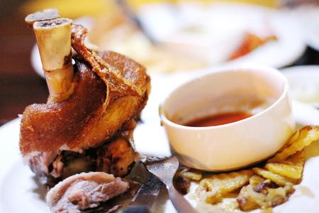 enjoyable: german pork hocks Stock Photo