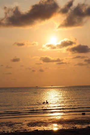 sunset in beach, thai Stock Photo - 14338254