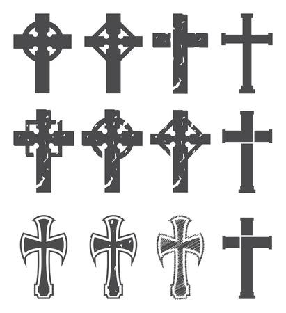 croix de fer: Set de croix. Vector.