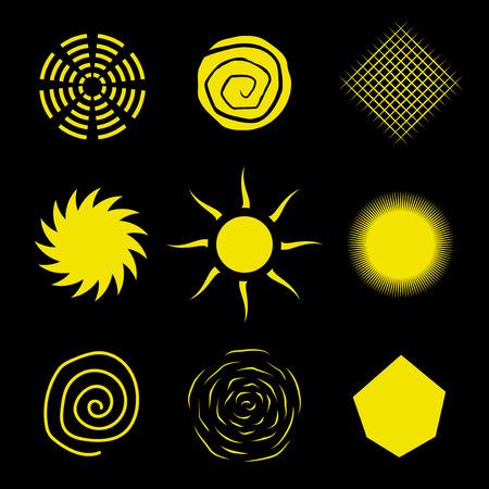 synopsis: Abstract sun set. Vector illustration Illustration