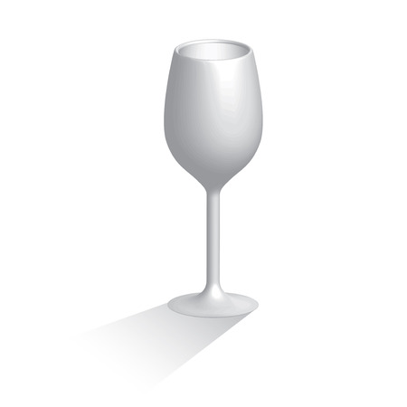 christal: 3D Wine glass isolated on white background