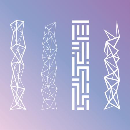 futurictic: Minimalistic Futuristic Geometric Patterns Vector