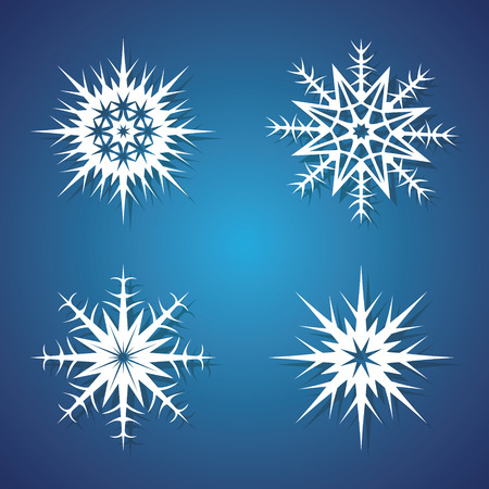 victor: Winter snowflakes set for Christmas design. Victor icons Illustration