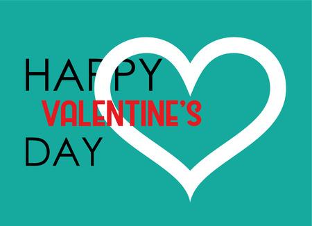 Valentine s Day Heart poster. Typography Vector Design Illustration
