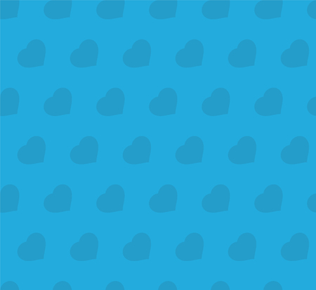 decoratively: Seamless pattern. Hearts on blue background
