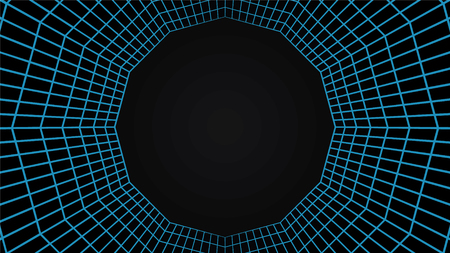 Grid tunel, mesh 3d abstract background
