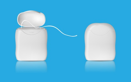 Realistic dental floss template Vettoriali