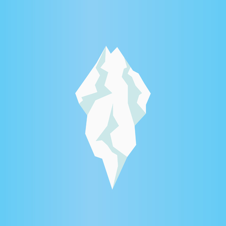 Flat iceberg icon. Isolated vector of icicle. Vettoriali