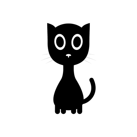 Simple cute cat icon.