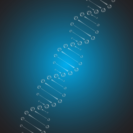 DNA chains structure from air bubbles. Vector illustration Standard-Bild - 115060820