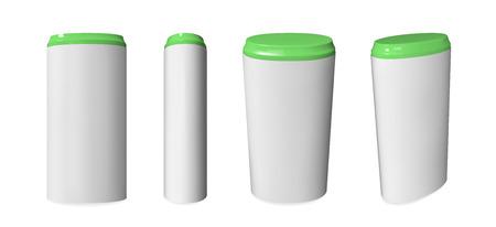 Sweetener tablet dispenser mockup. Realistic vector template.
