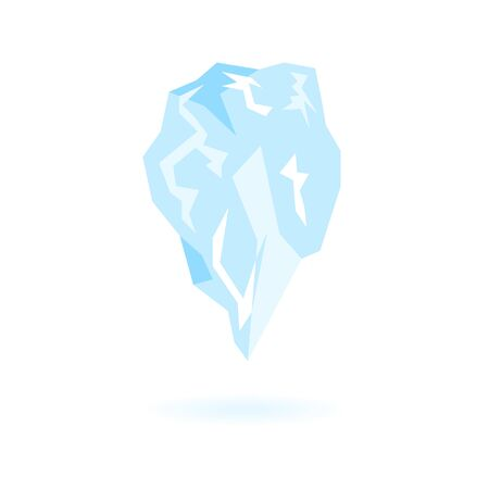 Flat iceberg icon. Isolated vector of icicle. Illusztráció