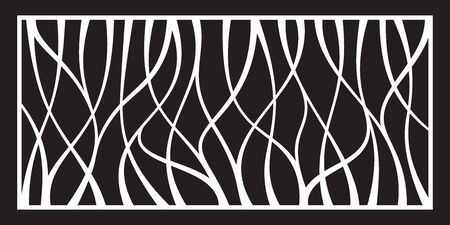 Laser cutting template for decorative panel. Abstract pattern. Vector illustration.