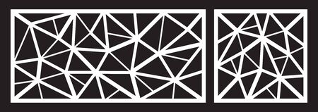 Laser cutting template for decorative panel. Abstract triangle pattern. Vector illustration. Illustration