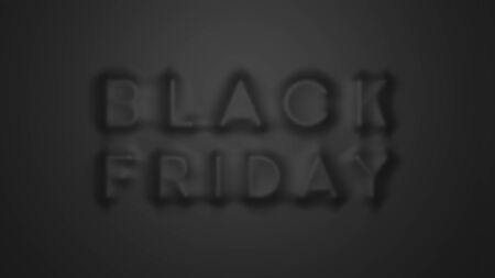 Black friday design concept. Text under the cloth. 3D render image