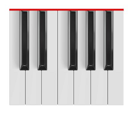 Grand piano keys. Realistic vector octave. Illustration for music design.