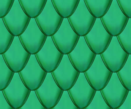 Seamless vector pattern. Snake or dragon green skin with scales. Fantasy texture.