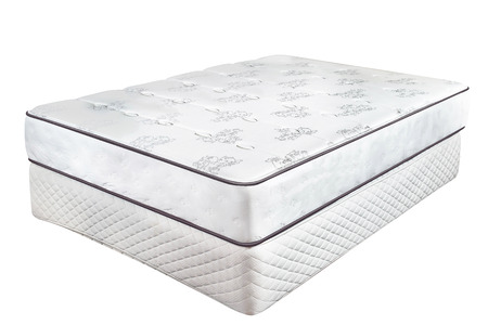 queen bed: The pad and lower pad Stock Photo
