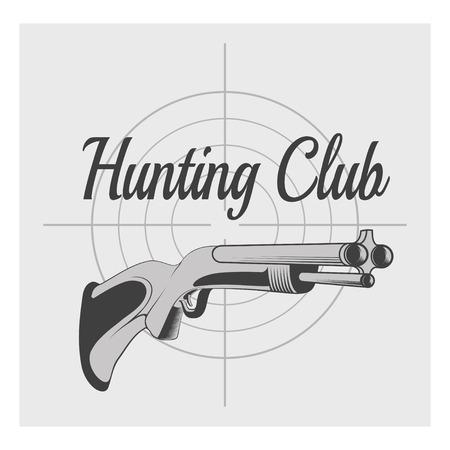 seal gun: hunting club Illustration