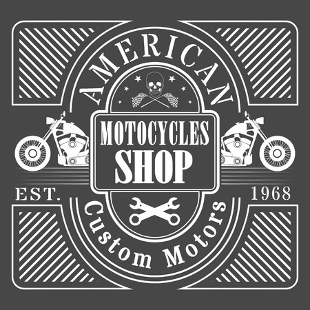 old motorcycle: vector old school race poster.retro  MOTORCYCLE
