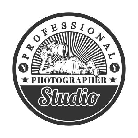 photography icon: Photographer studio, vector