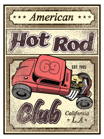 custom car: Hot rod custom car poster