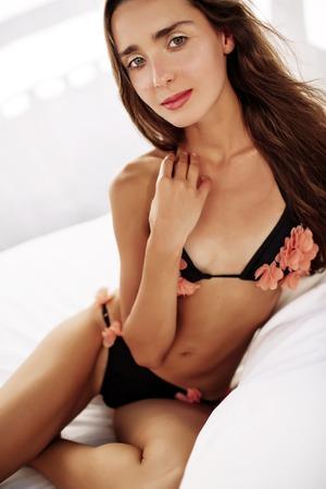 Erotic swimsuit girl models