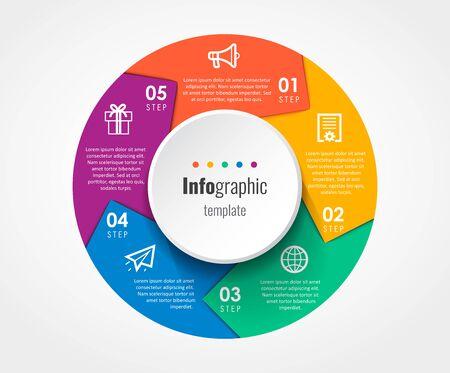 Vector infographic template Ilustração Vetorial