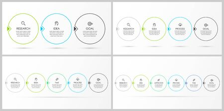 Set of vector infographic template