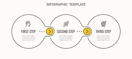Vector Infographic label design template with icons and 3 options or steps. Can be used for process diagram, presentations, workflow layout, banner, flow chart, info graph