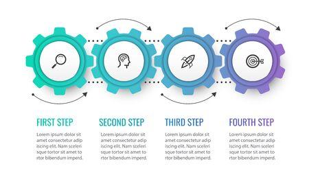 Vector infographic template Ilustracja