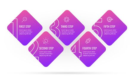 Vector Infographic design with 5 options or steps. Infographics for business concept. Can be used for presentations banner, workflow layout, process diagram, flow chart, info graph