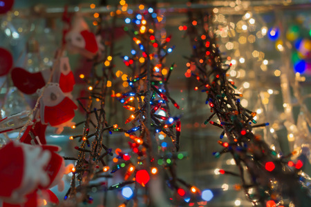 electric christmas lights as object in supermarket shop for sale a wide range
