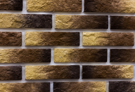 yellow-brown tile with texture for walls, bricks, background image Stock Photo