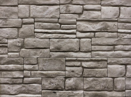 grey stone tile texture brick wall surfaced, backdrop Stock Photo