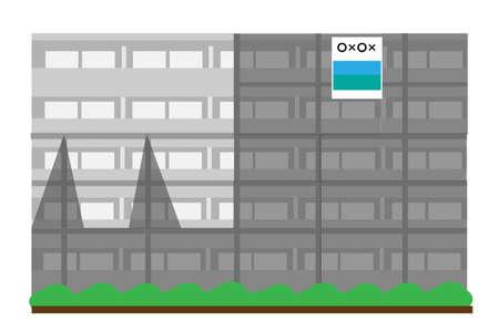 Condominiums undergoing large-scale repair work